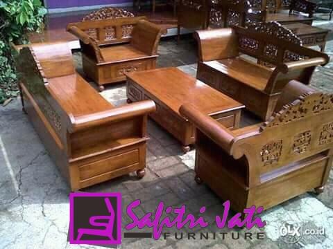 Kursi Tamu Sudut Ukir Madura Safitri Jati Furniture