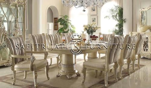 meja makan jati ukir jepara