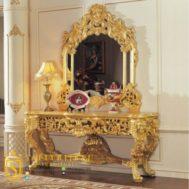 Meja Konsul Mewah Desain Italia Mewah Klasik