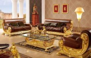 Kursi Tamu Mewah gold