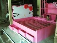 Tempat Tidur Anak Hello Kitty Jati
