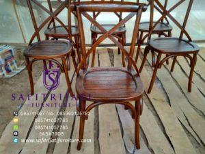 Kursi Cafe Jati Crossback Bistro