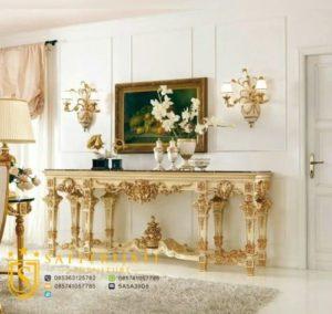 Meja Konsul Mewah Klasik Model Eropa