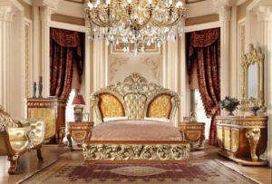 Kamar Set Mewah Klasik Artistik Yang Menawan