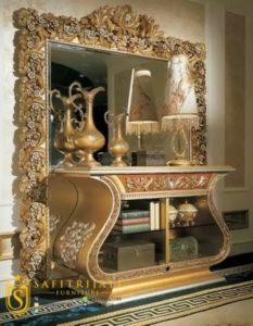 Meja Konsul Versace Ukiran Mewah Klasik