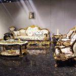 Desain Kursi Tamu Mewah Bellagio Finishing Emas